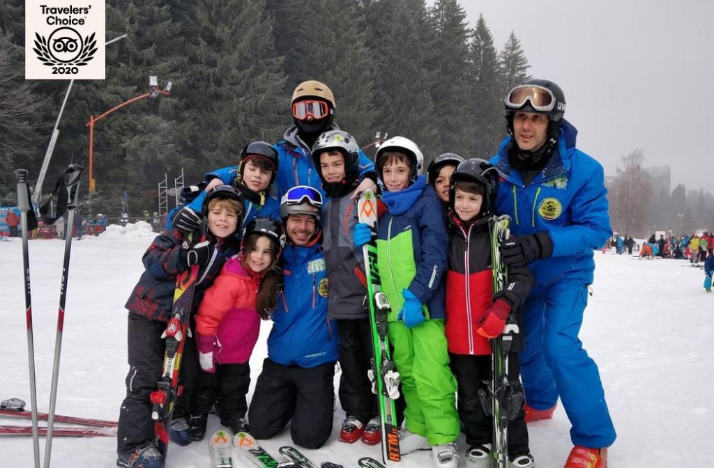 Children Ski Lessons in Poiana Brasov with R&J the best Ski School in the ski resort